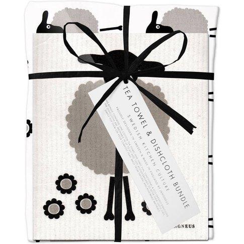 Black Sheep Dishcloth And Tea Towel Bundle