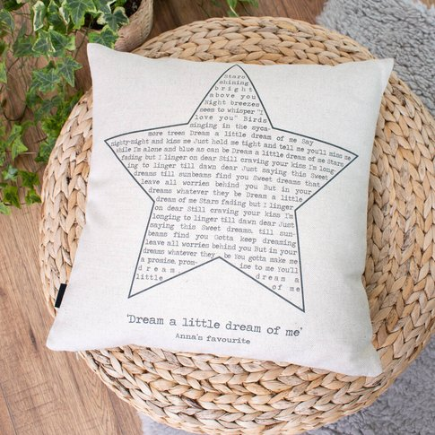 Personalised Favourite Song Cushion