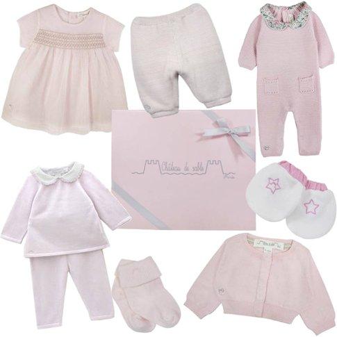 Newborn Baby Girl's First Wardrobe In Pink, Pink