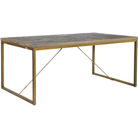 Hadley Nutmeg And Bronze Dining Table Extendable