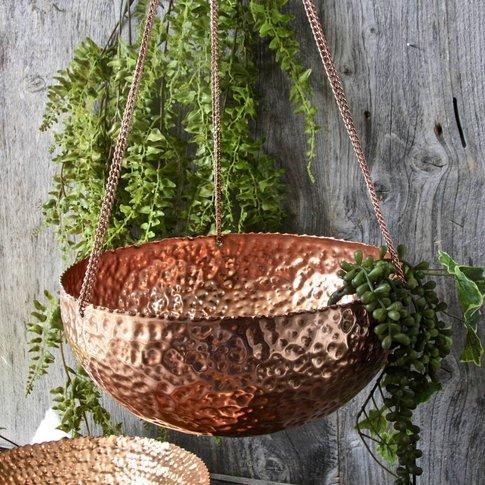 Copper Bowl Hanging Planter