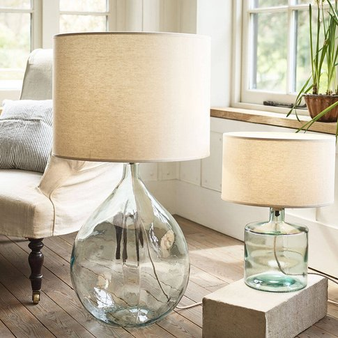 Recycled Glass Bottle Lamp Base