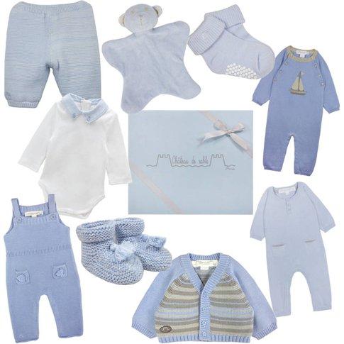 Newborn Baby's First Wardrobe In Baby Blue, Blue