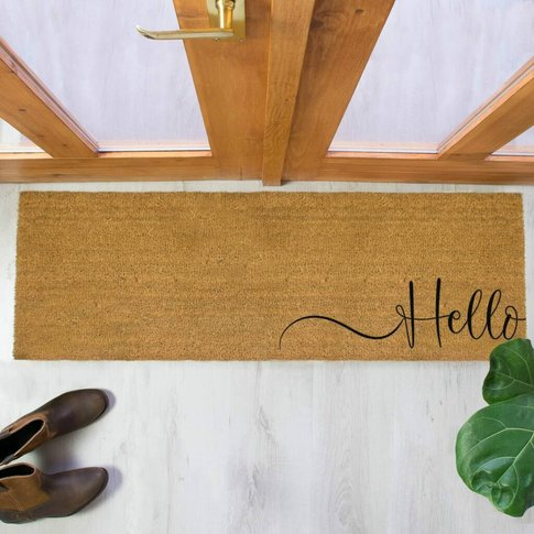 Hello Scribble Double Doormat
