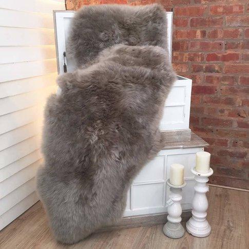 Luxury Grey Vole Double Sheepskin Rug