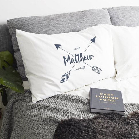 Personalised 'Arrow' Pillow Case