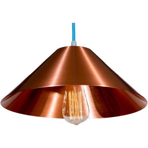 Copper Coolie Stanley Pendant Light, Purple/Black/White