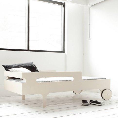 R Designer Toddler Bed In Whitewash, Dark Chocolate/...