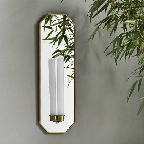 Mirrored Wall Candle Holder