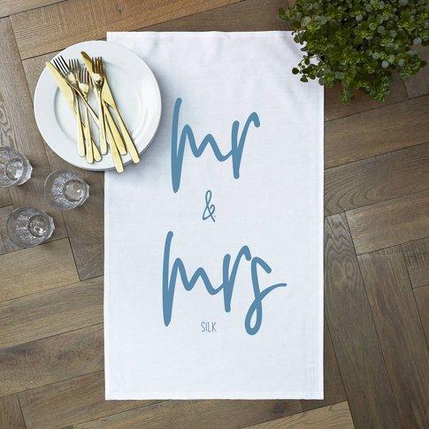 Personalised 'Mr And Mrs' Tea Towel