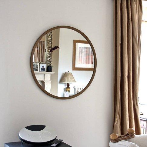 Modern Round Mirror Gold, Bronze, Silver, White, Black