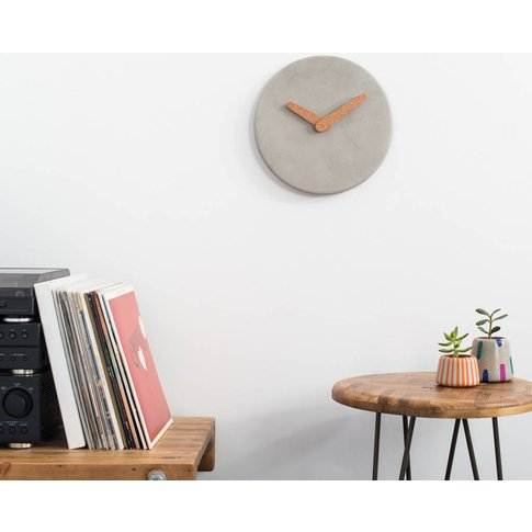 Plain And Simple Concrete Wall Clock