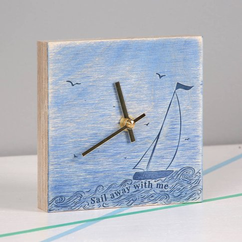 Sail Away With Me Wall Or Shelf Clock Gift For Him, ...