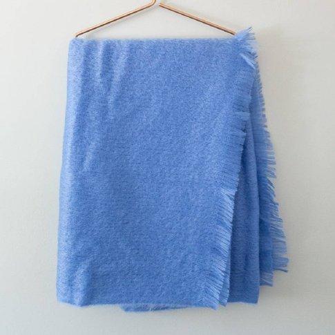 Mohair Throw And Cushion Range, Aquamarine