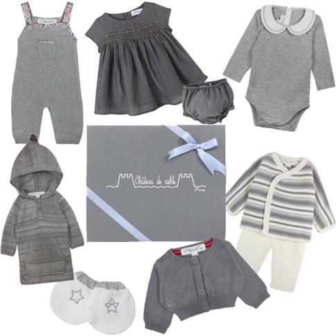 Newborn Baby Girl's First Wardrobe In Grey