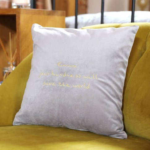 Personalised Embroidered Meaningful Words Cushion