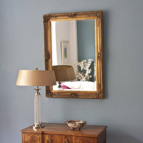 Gold Or Silver Antiqued Hatched Mirror