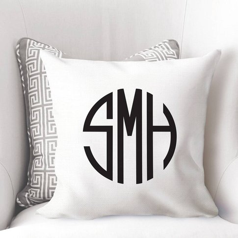 Personalised Monogram Initial Cushion Cover