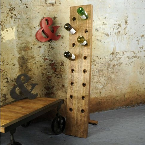Industrial Vintage Freestanding Wine Rack