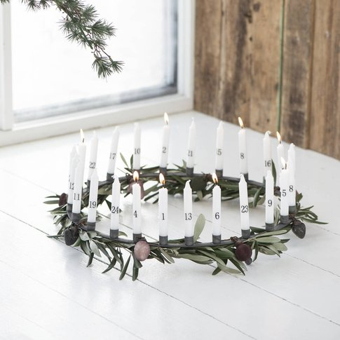 Large Advent Ring Candle Holder