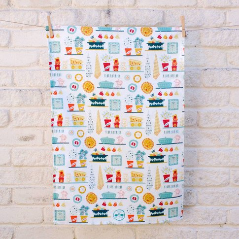 Vintage Kitchen Cotton Tea Towel