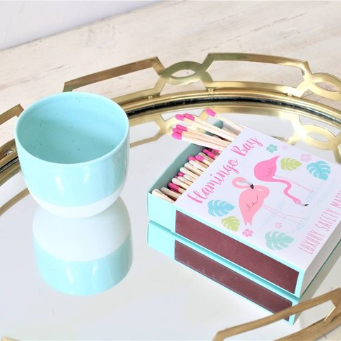 Pastel Votive And Novelty Matches Gift Set