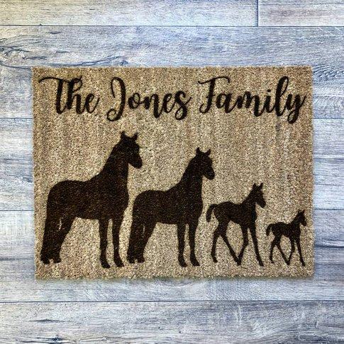 Horse Family Doormat