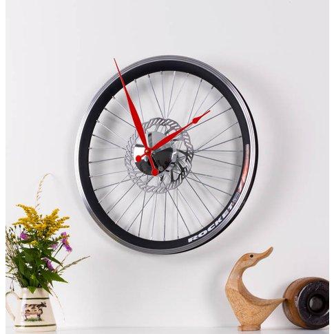 Racing Bike Wheel Clock With Brake Disc Small, Red/B...