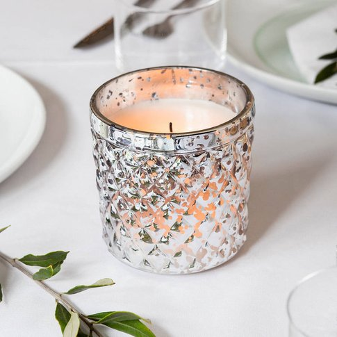 Quilted Glass Battery Led Votive Candle