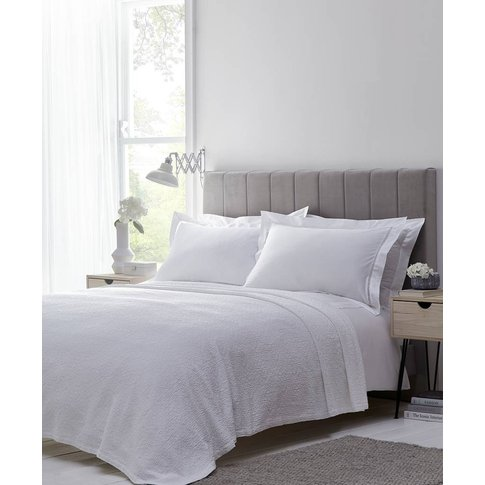 Matelasse Floral Trail Cotton Bedspread White And Grey