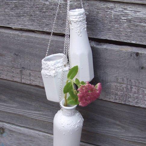 Porcelain Hanging Bottle Wall Planter Vases