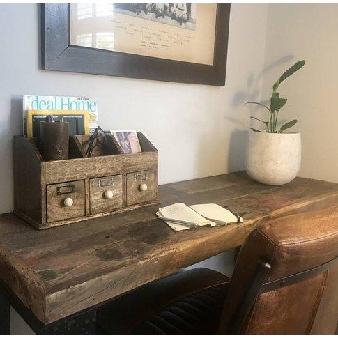 Wooden Desk Storage