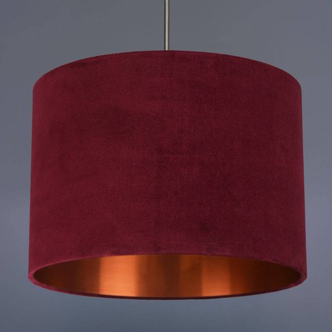 Wine Velvet Lampshade With Choice Of Metallic Lining
