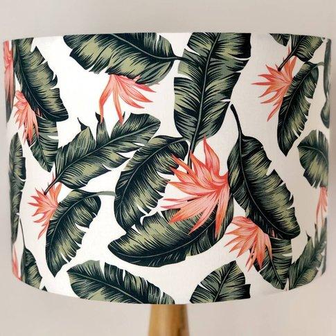 Flash Of Orange Botanical Print Handmade Lampshade