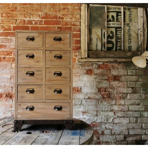 Industrial Apothecary Cabinet