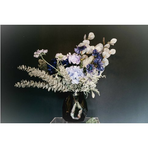 Everlasting Blue Hydrangea Bouquet In Recycled Vase