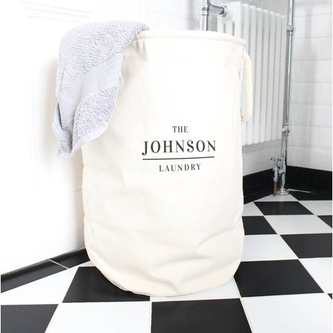 Personalised Family Laundry Basket