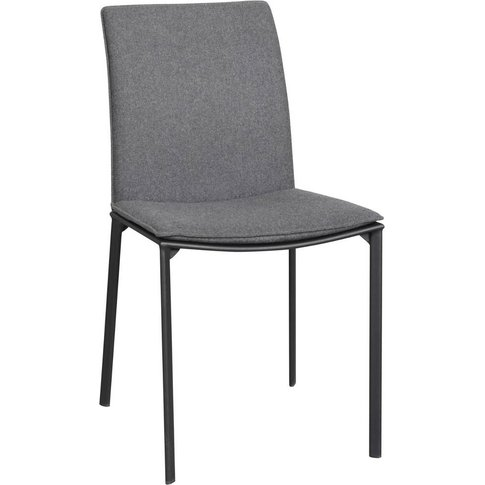 Charcoal Upholstered Dining Chair Set Of Two
