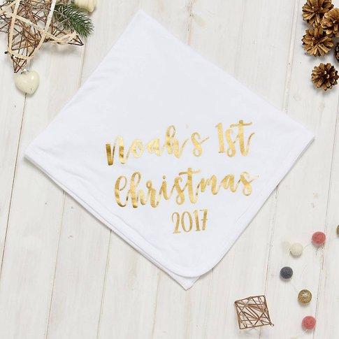 Personalised 1st Christmas Blanket