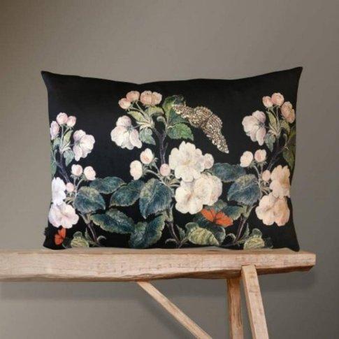Large Velvet Appleblossom Cushion
