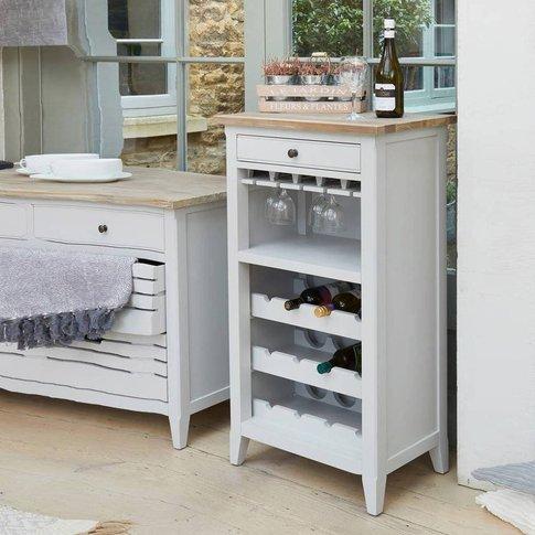 Ridley Grey Wine Rack / Glass Storage Cabinet