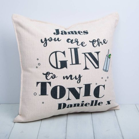 Gin And Tonic Personalised Cushion
