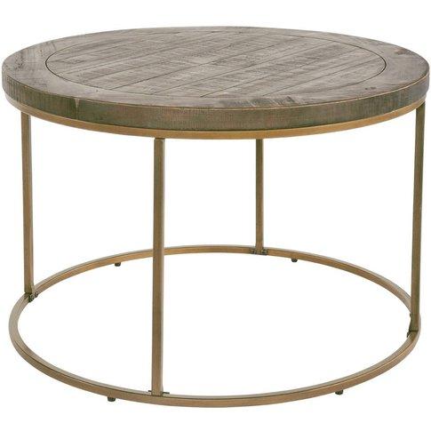 Hadley Nutmeg Round Coffee Table