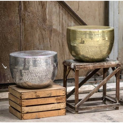 Hammered Gold, Silver Or Antique Gold Coffee Table