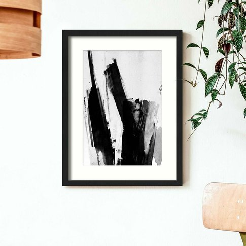Black And White Scribble Abstract Painting