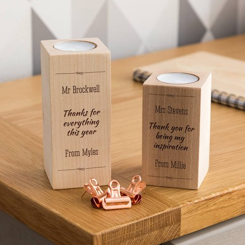 Personalised Candle Holder Teacher Gift