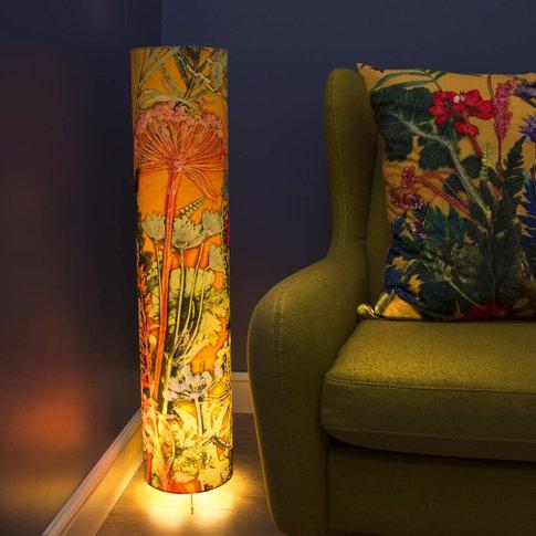 Stunning Tropical Botanics Meter High Floor Lamp