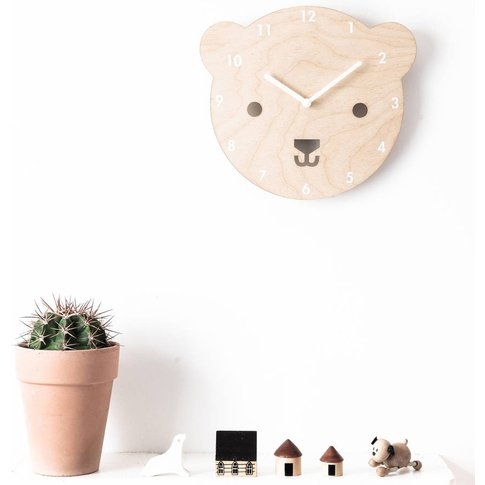 'Buster The Bear' Wooden Childrens' Clock