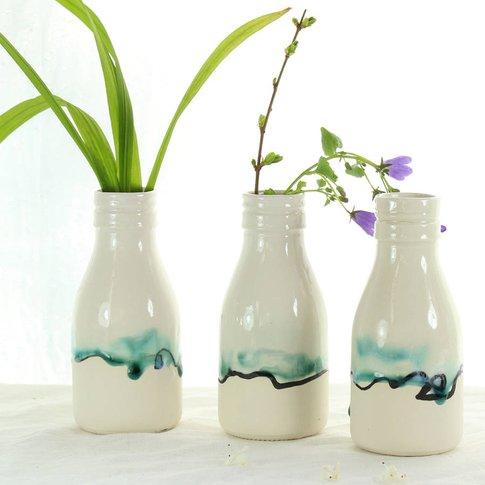 Half Pint Milk Bottle China Vase