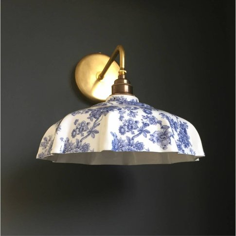 Campbell Blue Imari Wall Light